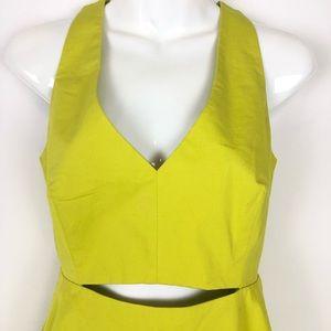 Zara Dresses - ZARA // sz 4 neon cutout fit n flare tank dress